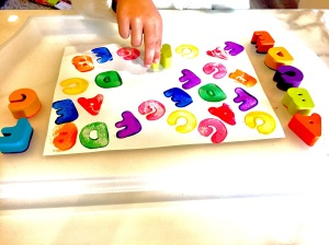 Wooden Letters Painting The Alphabet