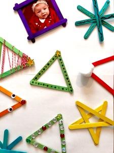 Craftstick Children's Homemade Ornament