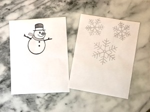 snowmen and snowflake images