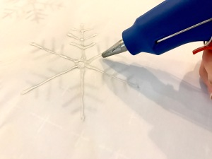 Tracing Snowflake With Hot Glue Gun