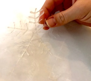 Peel off glue snowflake