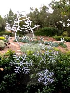 DIY christmas window decals