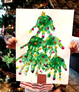 Christmas Tree Hand Print Craft