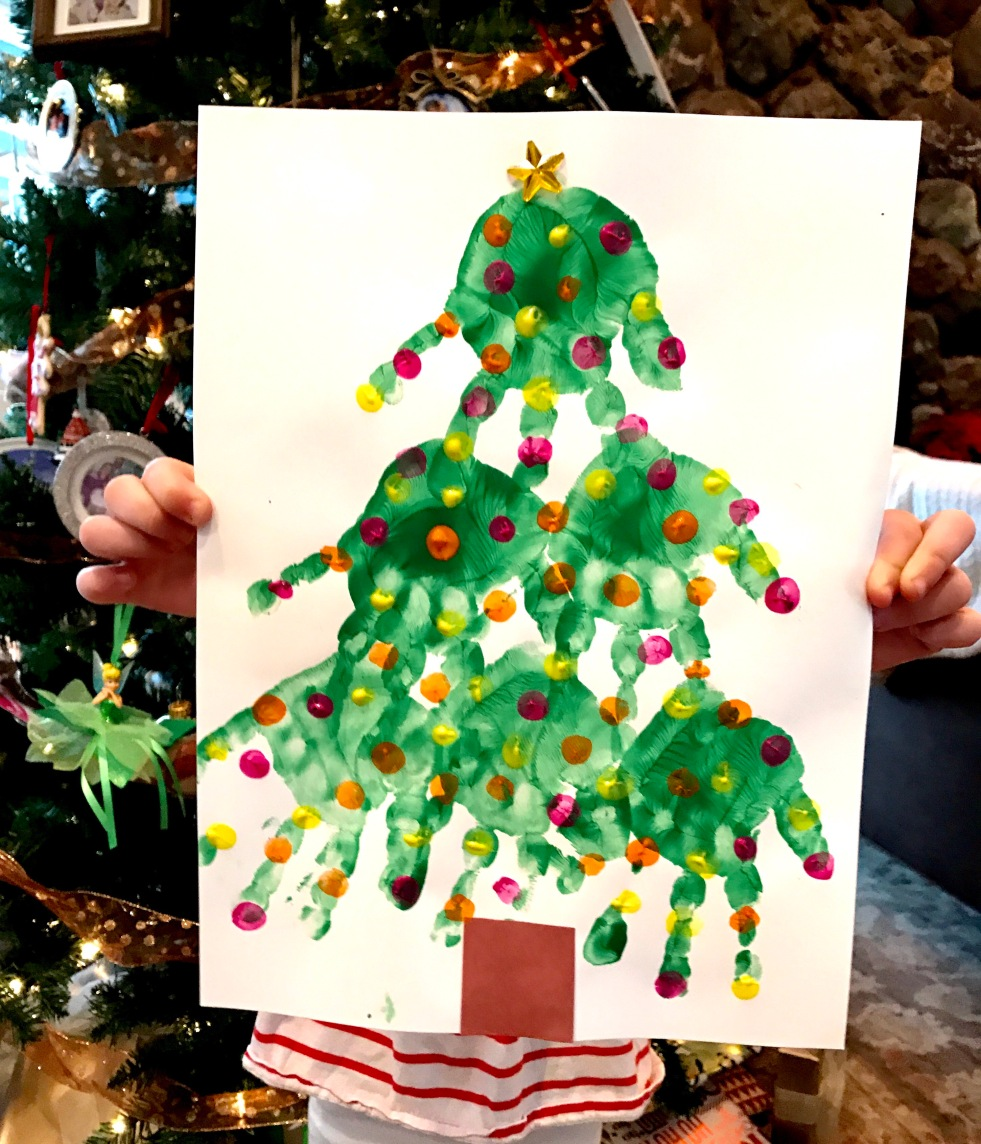 Christmas Tree Hand Print Craft
