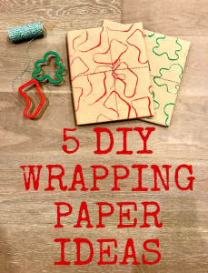 5 DIY Christmas Wrapping Paper Ideas