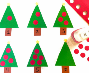 Christmas Tree Counting Activities
