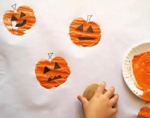Apple Pumpkin Stamps