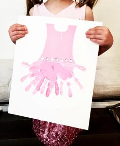Hand Print Tutu