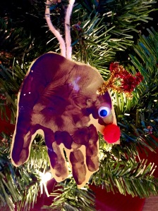 Homemade Chrildren's Reindeer Ornament