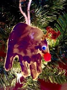 Homemade Chrildren's Reindeer Ornament