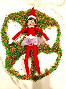 Elf On The Shelf Ideas Rainbow Rice Angel