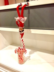 The Elf On The Shelf Ideas Hanging For Candy Canes