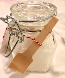 Peppermint Sugar Body Scrub Wooden Scoop