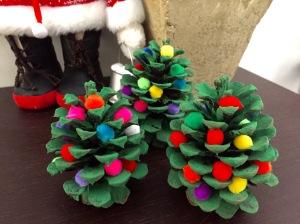 Pine Cone Christmas Tree Kids Craft