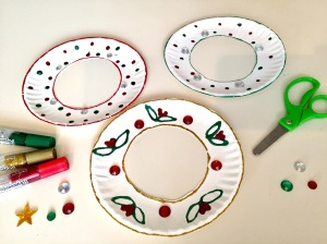 Paper Plate Holiday Wreath Kids Craft