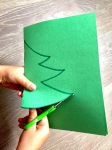 Cutting A Symmetrical Christmas Tree Kids Craft