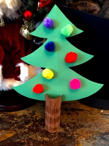 TP Roll Christmas Tree Kids Craft