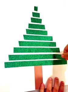 Washi Tape Christmas Tree Children's Craft