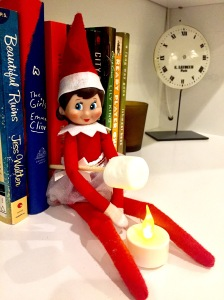 Best Elf On The Shelf Ideas Toasting Marshmallow