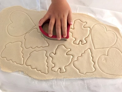 Salt Dough Ornaments Cutting Out The Dough
