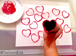 TP roll heart prints for Valentines Day